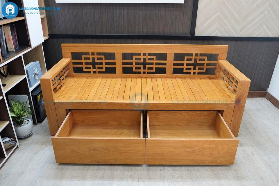 ghế sofa giường gỗ kéo se02