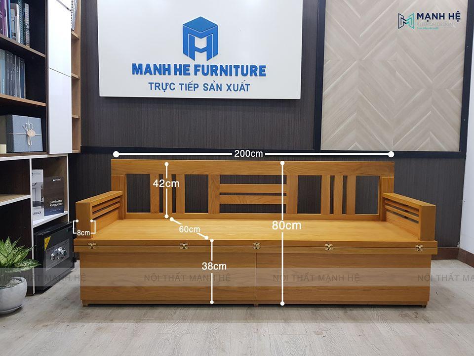 Kích thước chuẩn của ghế sofa mã TG01