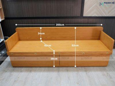 kích thước ghế sofa giường gấp TG03