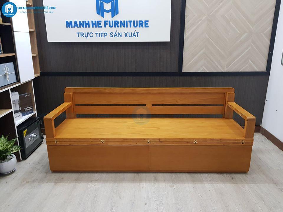 Kích thước nhỏ gọn và dễ dàng thao tác chính là lợi thế lớn của ghế sofa gấp thành giường TG05