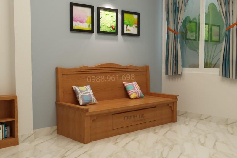 Hình thiết kế ghế sofa kéo thành giường SG01