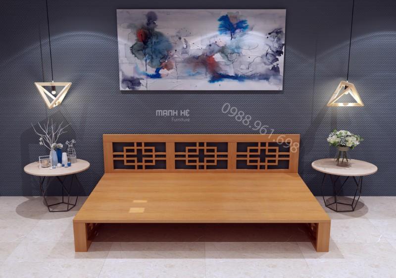 Ghế sofa giường của Mạnh Hệ mang lại nhiều tiện ích nhưng thiết kế lại vô cùng đơn giản