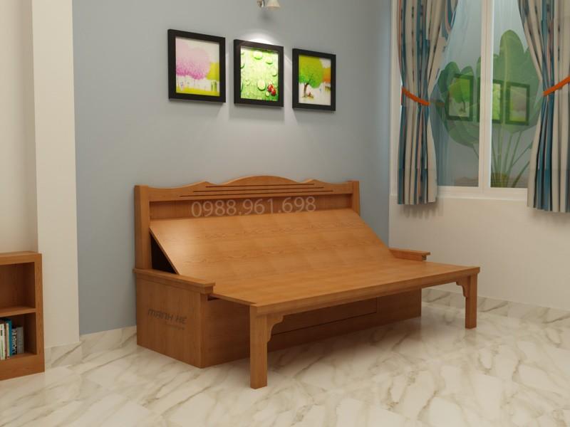 Ghế sofa giường khi kéo ra