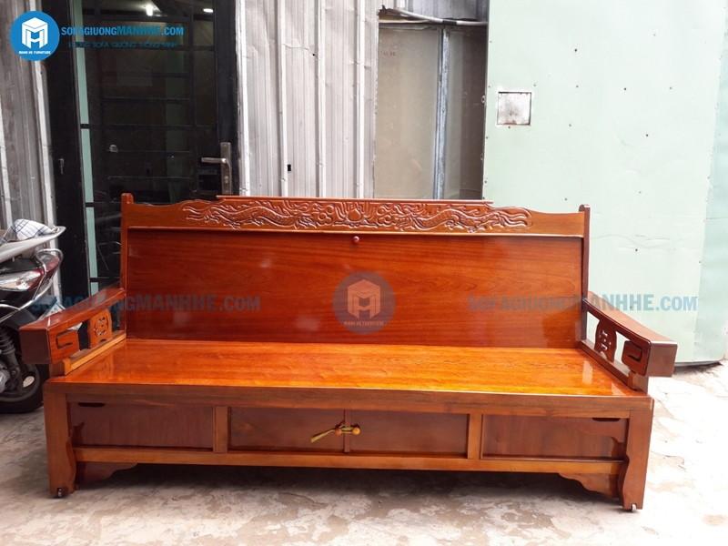 Ghế sofa giường giá rẻ GR01 khi gấp lại