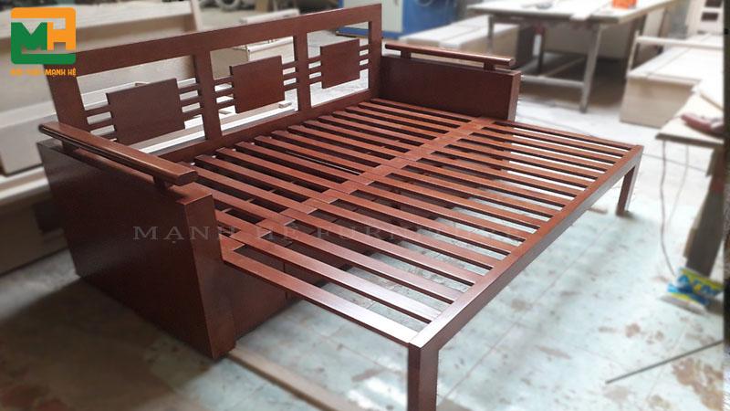Ghế sofa giường SE01 khi kéo ra