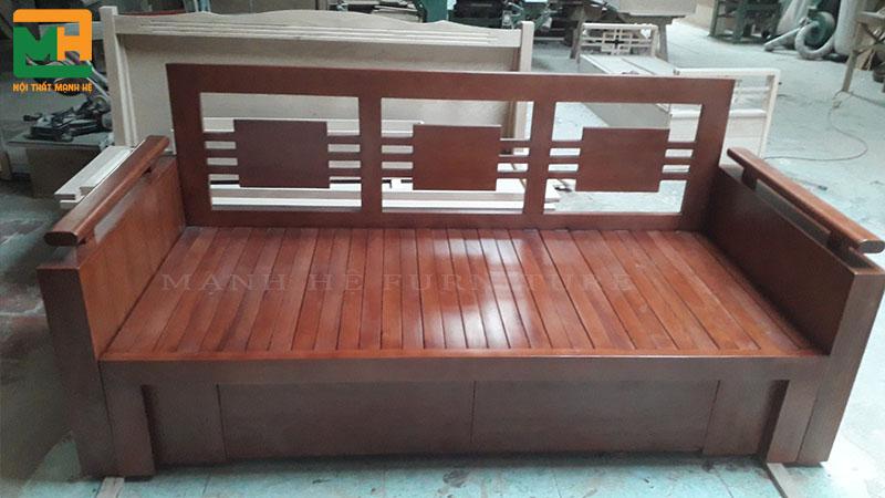 Sofa giường kéo màu cánh gián kích thước 1m6 x 2m