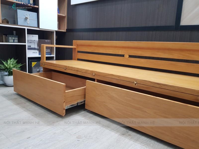 Ghế sofa giường TG01 được thiết kế với nhiều hộc tủ