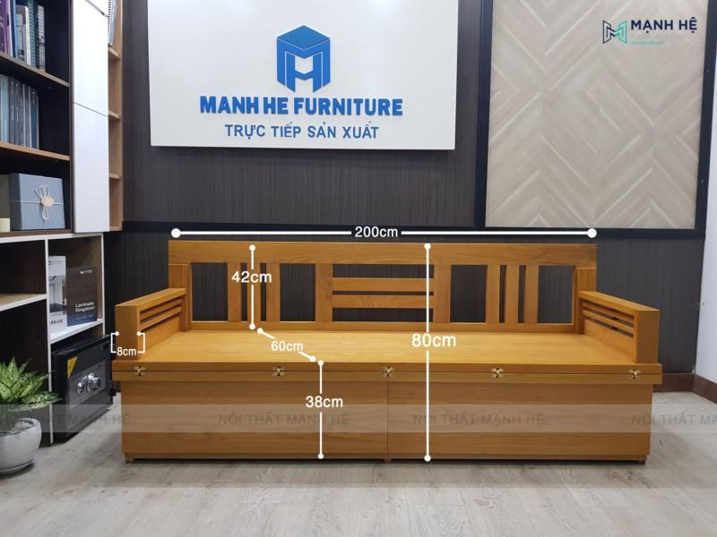 Ghế Sofa giường gấp TG04 có kích thước phù hợp với không gian mọi ngôi nhà