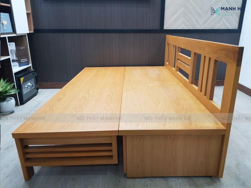 mẫu giường gấp thành ghế bằng gỗ