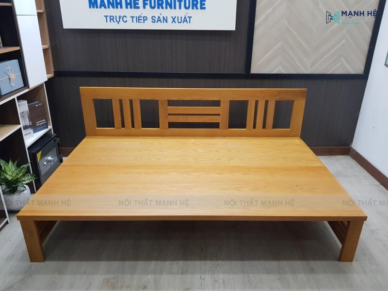 Chất liệu chính làm nên ghế Sofa gấp thành giường TG04 là gỗ tự nhiên