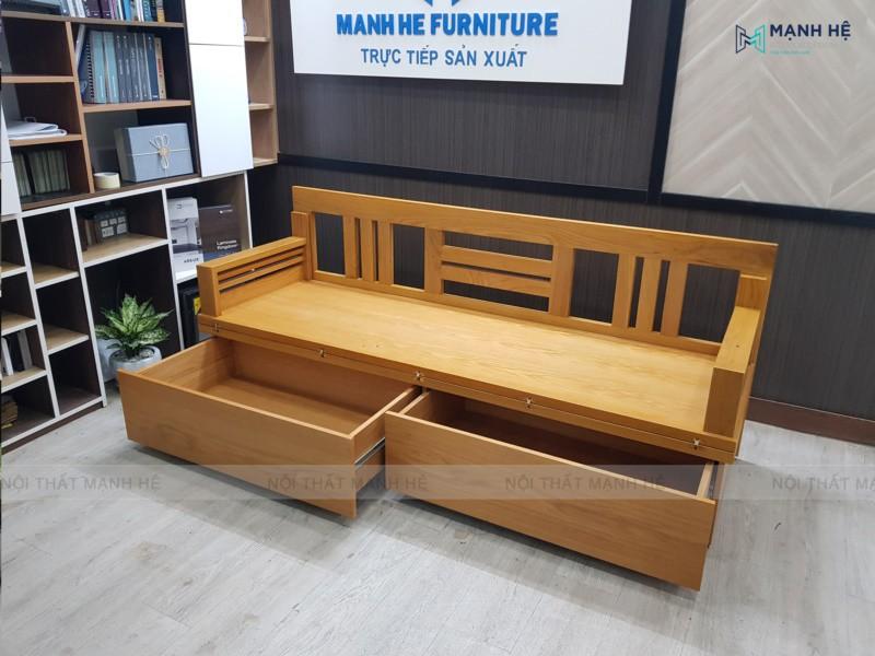 Mẫu ghế sofa giường gấp TG04 có hộc kéo tiện lợi