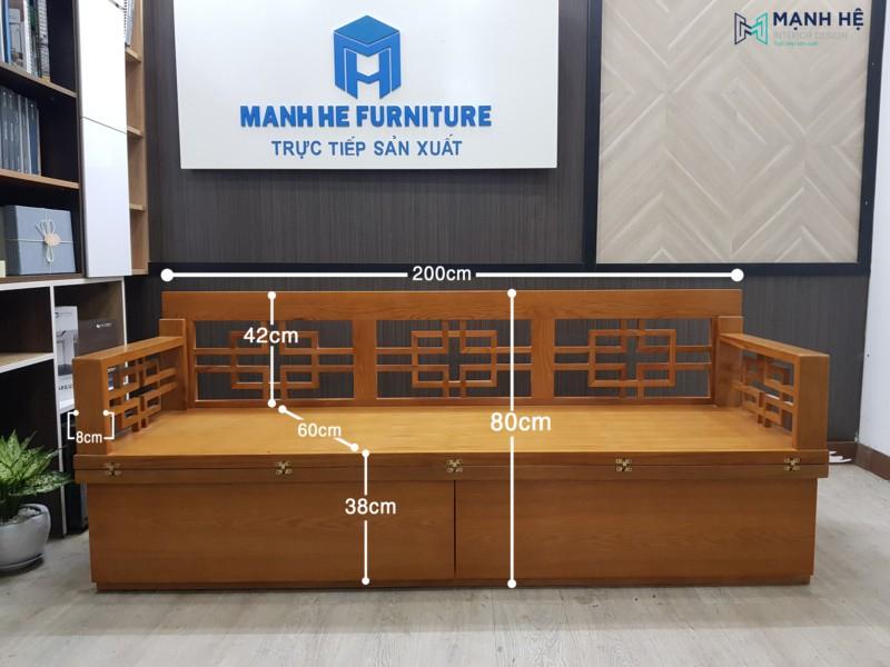 Kích thước ghế sofa giường gấp VIP01