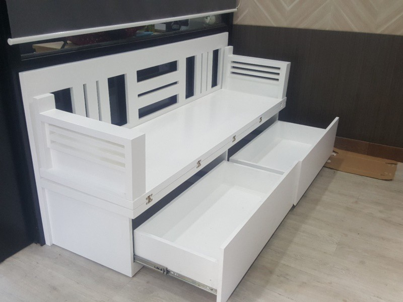 Mẫu ghế gấp TG01 gỗ tự nhiên sơn trắng