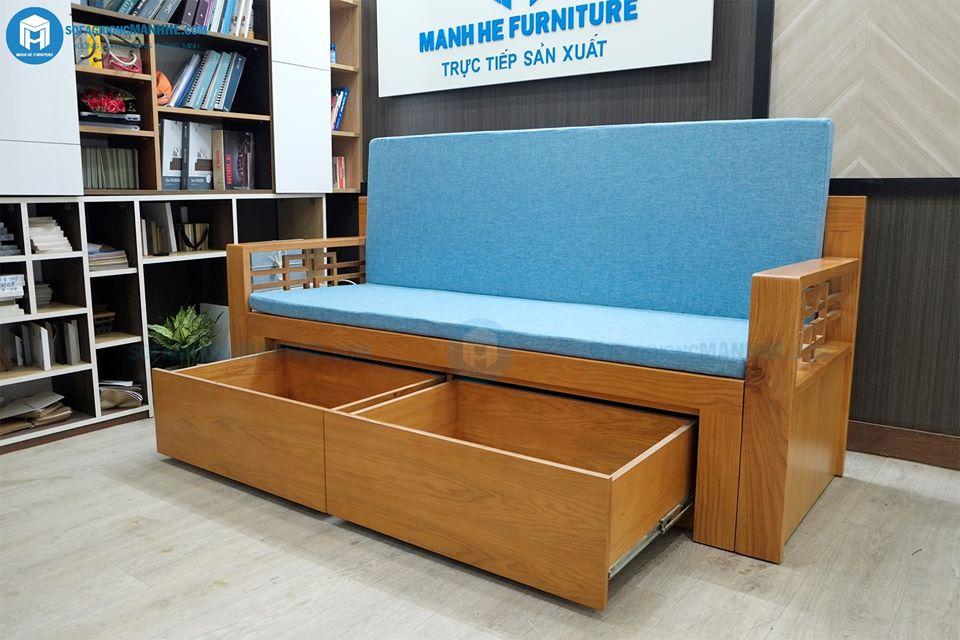 ghế giường kéo 2 trong 1 của Mạnh Hệ đa năng, thiết kế nhỏ gọn, dễ dàng sử dụng