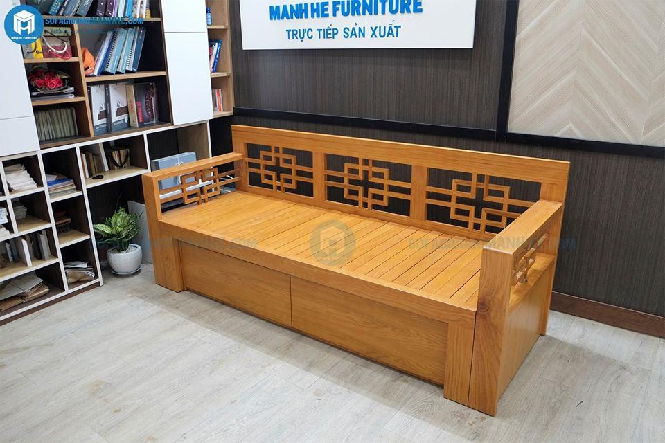 Ghế sofa giường kéo được sản xuất trực tiếp lại xưởng Mạnh Hệ