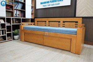 ghế giường gỗ 2 trong 1
