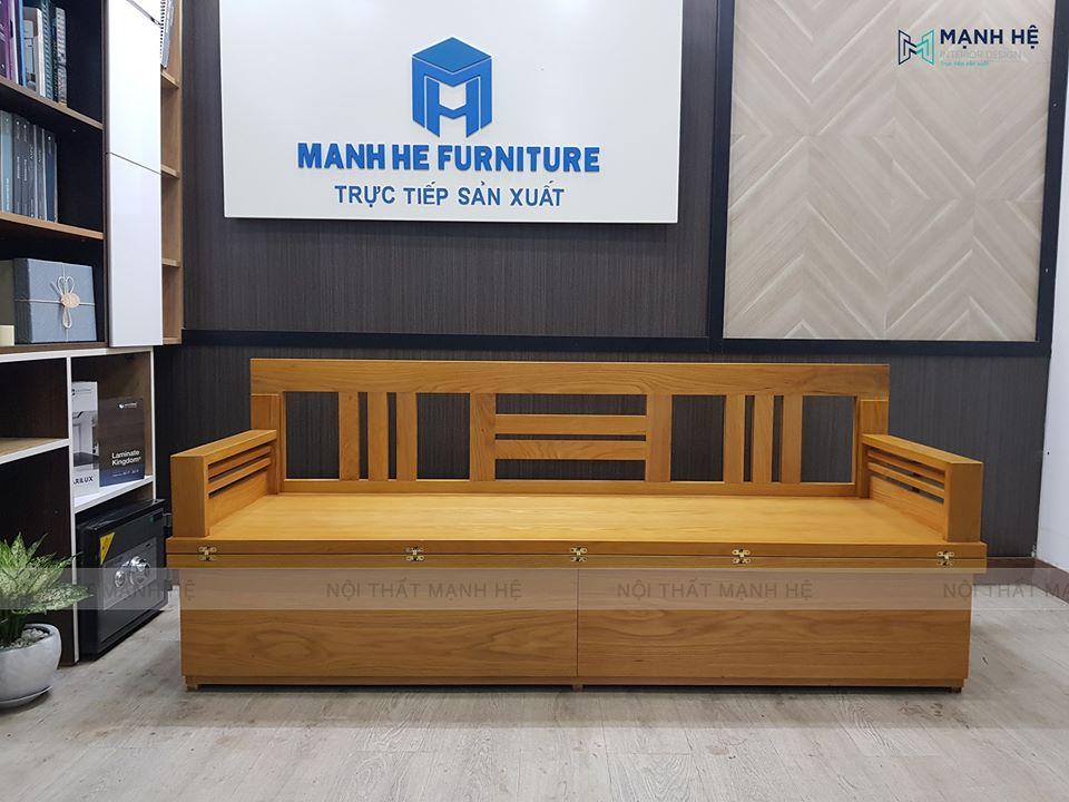 Ghế sofa giường gấp TG04 làm từ gỗ tự nhiên