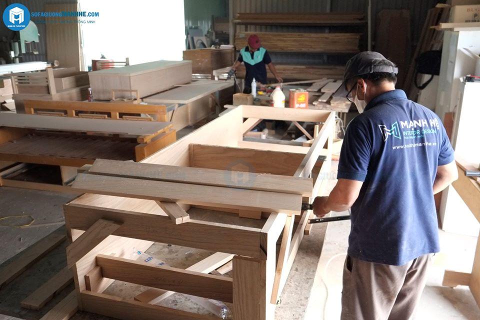 quá trình sản xuất ghế sofa giường gỗ