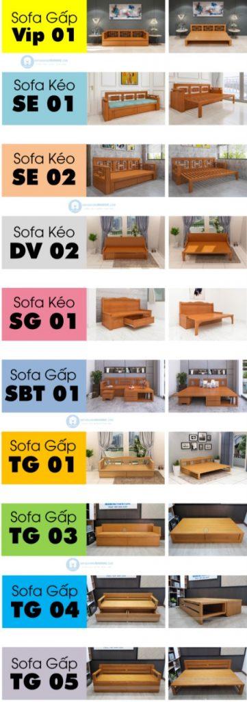 Bảng giá ghế sofa giường gỗ thông minh