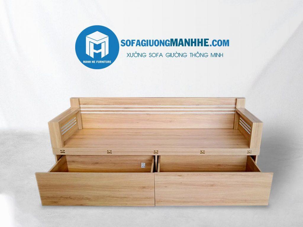 Ghế sofa giường gỗ công nghiệp có giá thành rẻ